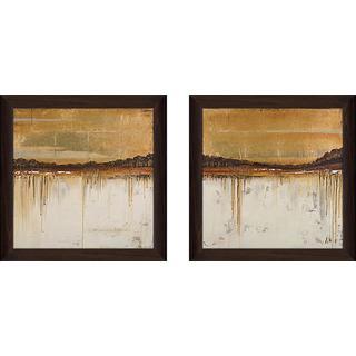 """Melting Gold II"" Wall Art Set of 2, Matching Set"