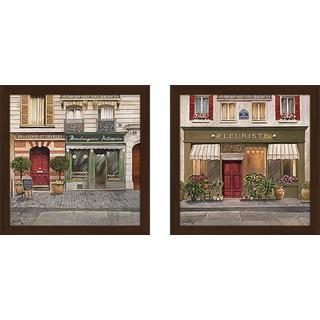 """""""French Store II"""" Wall Art Set of 2, Matching Set"""