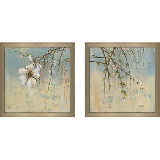 """Cherry Blossoms II"" Wall Art Set of 2, Matching Set"