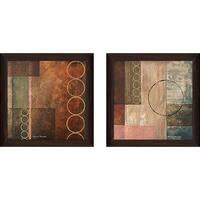 """""""Circlesstract II"""" Wall Art Set of 2, Matching Set"""