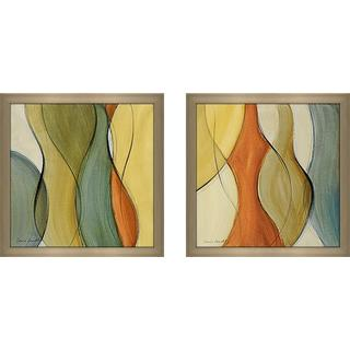 """Coalescence II"" Wall Art Set of 2, Matching Set"