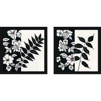 """Black And White III"" Wall Art Set of 2, Matching Set"