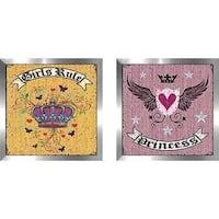 """Princess Heart"" Wall Art Set of 2, Matching Set"