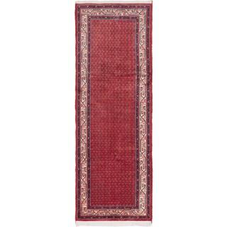 ecarpetgallery Arak Red Wool Rug (3'8 x 10'4)