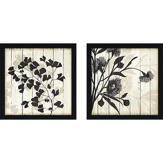 """Shadow On Wood II"" Wall Art Set of 2, Matching Set"
