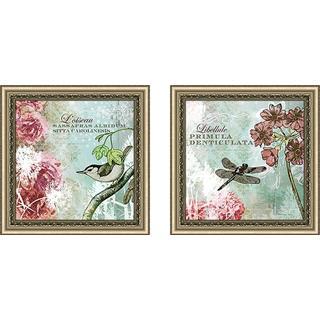 """""""Tiffany Nature II"""" Wall Art Set of 2, Matching Set"""