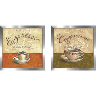 """Cappuccino"" Wall Art Set of 2, Matching Set"