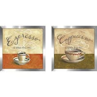 """Cappuccino"" Wall Art Set of 2, Matching Set"