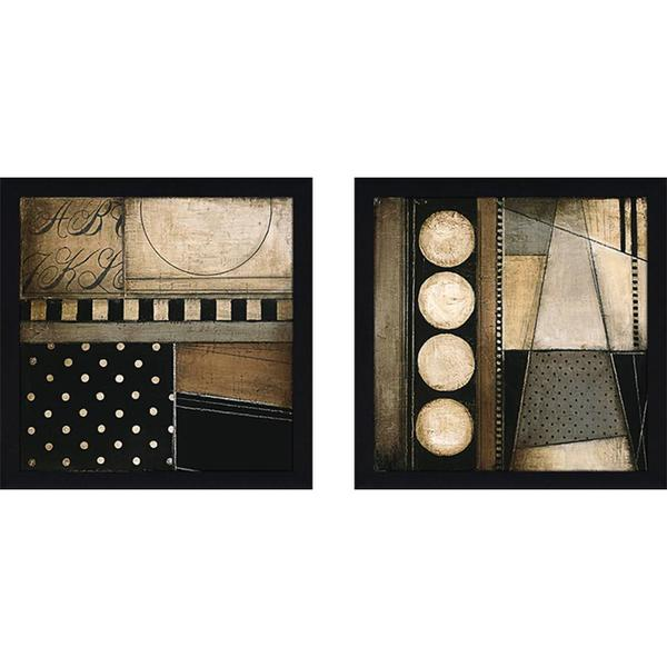"Wall Art Set Of 2 fancy square ii"" wall art set of 2, matching set - free shipping"