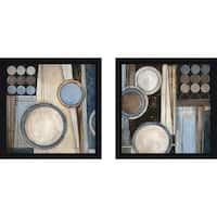 """Blue Notes II"" Wall Art Set of 2, Matching Set"