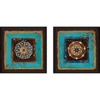"""Exotic Medallion II"" Wall Art Set of 2, Matching Set"