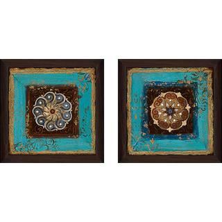 """Exotic Medallion II"" Wall Art Set of 2, Matching Set"
