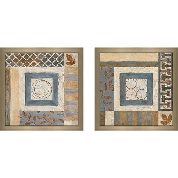 """Abstract Plan II"" Wall Art Set of 2, Matching Set"