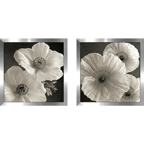 """Poppy Study IV"" Wall Art Set of 2, Matching Set"