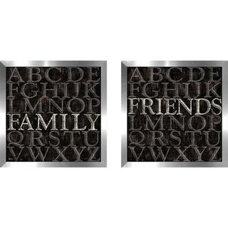 """Alphabet II"" Wall Art Set of 2, Matching Set"