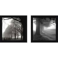 """Misty Trees"" Wall Art Set of 2, Matching Set"