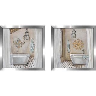 """Crystal Bath"" Wall Art Set of 2, Matching Set"