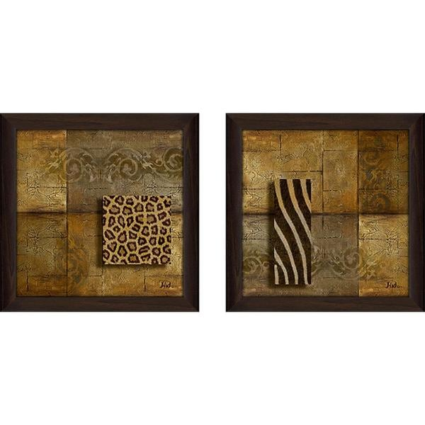 """Animal Feeling"" Wall Art Set of 2, Matching Set"