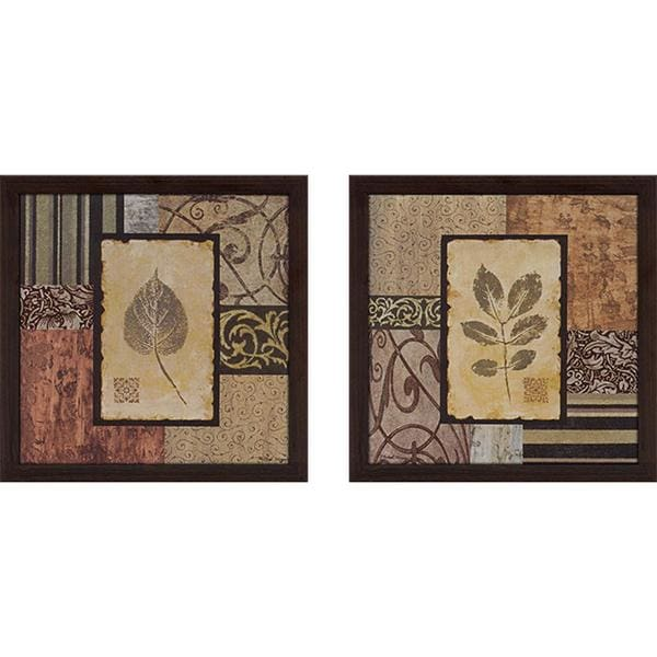 """Semptember Leaves"" Wall Art Set of 2, Matching Set"