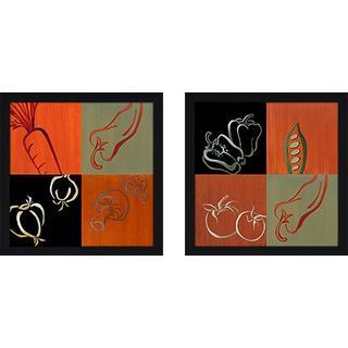 """Smorgasbord"" Wall Art Set of 2, Matching Set"
