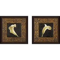 """Flowers II"" Wall Art Set of 2, Matching Set"