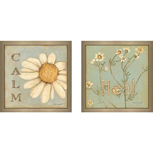 """""""Heal (Flower)"""" Wall Art Set of 2, Matching Set"""