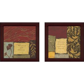 """""""Truly Rich"""" Wall Art Set of 2, Matching Set"""