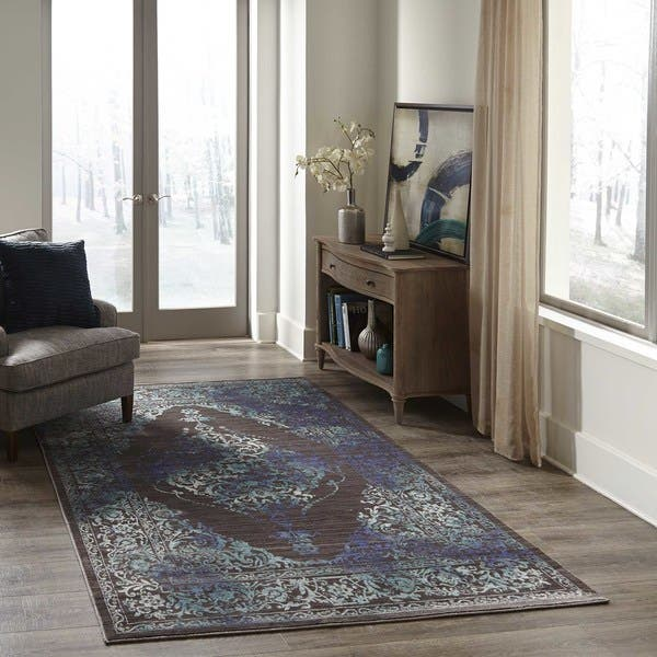Momeni Cypress Polyester Traditional Medallion Area Rug Overstock 15902846