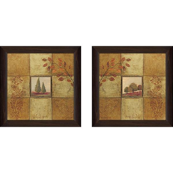 """""""Golden Day"""" Wall Art Set of 2, Matching Set"""