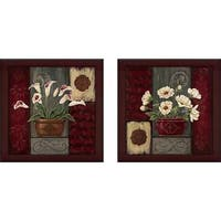 """Potted Tapestry IV"" Wall Art Set of 2, Matching Set"