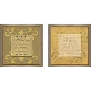 """To the World"" Wall Art Set of 2, Matching Set"