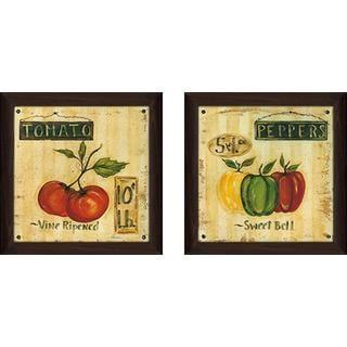 """Peppers"" Wall Art Set of 2, Matching Set"