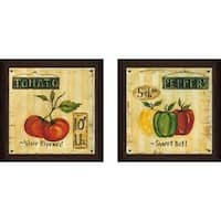 """Peppers"" Wall Art Set of 2, Matching Set"