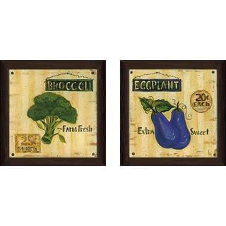 """Eggplant"" Wall Art Set of 2, Matching Set"