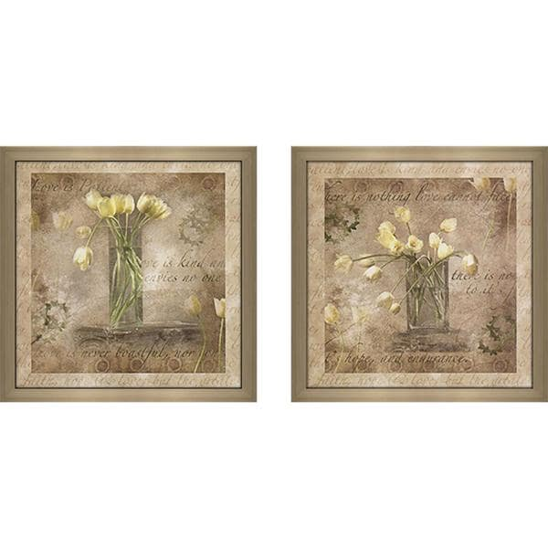 "Wall Art Set Of 2 nothing love cannot face"" wall art set of 2, matching set - free"