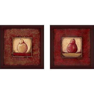 """Pear I"" Wall Art Set of 2, Matching Set"