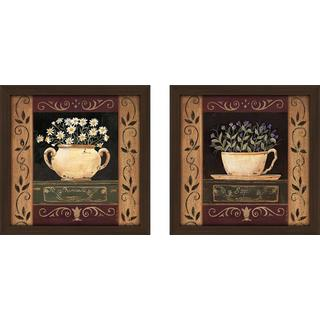 """""""Flower Pot II"""" Wall Art Set of 2, Matching Set"""