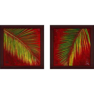 """Leaves"" Wall Art Set of 2, Matching Set"
