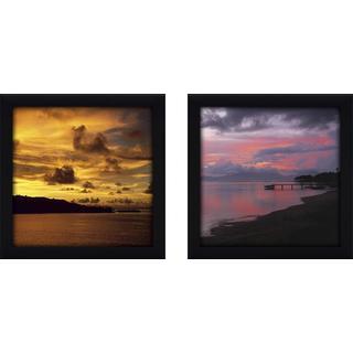 """Red Sky at Night"" Wall Art Set of 2, Matching Set"