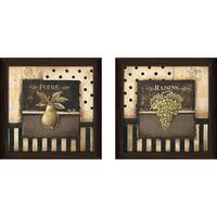 """Raisins"" Wall Art Set of 2, Matching Set"