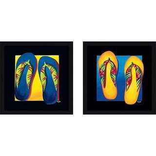 """""""Flip Flops II"""" Wall Art Set of 2, Matching Set"""