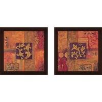 """""""Cinnabar"""" Wall Art Set of 2, Matching Set"""