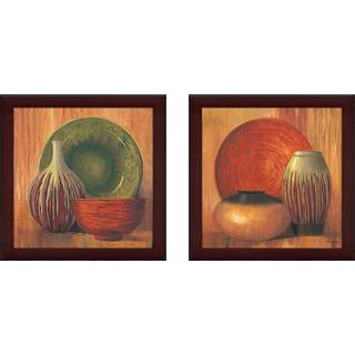 """""""Ceramic Study"""" Wall Art Set of 2, Matching Set"""