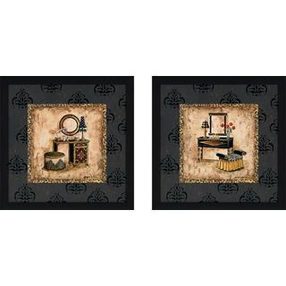 """Vintage Vanity"" Wall Art Set of 2, Matching Set"