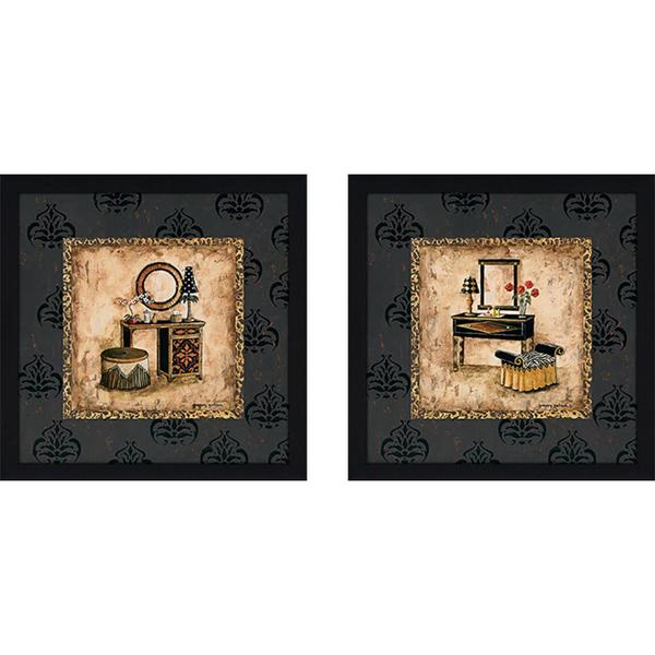 """Vintage Vanity"" Wall Art Set of 2, Matching Set"