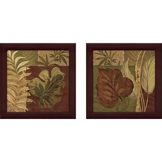 """""""Tropical Foliage"""" Wall Art Set of 2, Matching Set"""