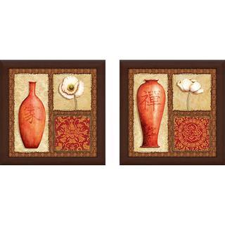 """Oriental Collage IV"" Wall Art Set of 2, Matching Set"