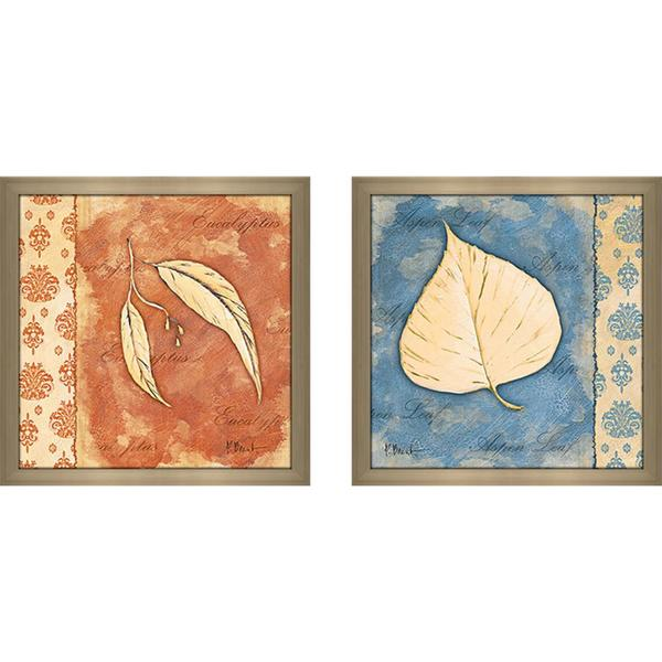 """Leaf Oasis III"" Wall Art Set of 2, Matching Set"