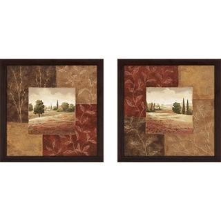 """Poppy Fields"" Wall Art Set of 2, Matching Set"