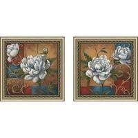 """""""Floral Medley"""" Wall Art Set of 2, Matching Set"""